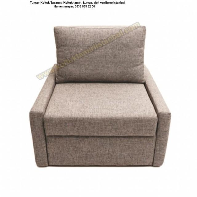 tekli kolsuz koltuk modelleri yataklı berjer kolt