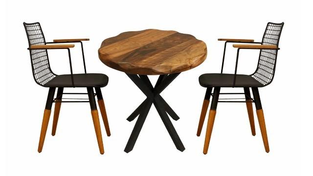 Tel Arkalı Kollu Irmak Sandalye Modelleri