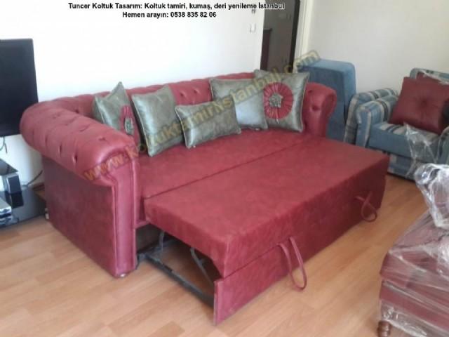 yataklı chesterfield koltuklar chesterfield kanep