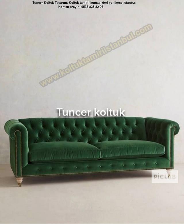 Yeşil Chester Kanepe Modelleri Uygulaması