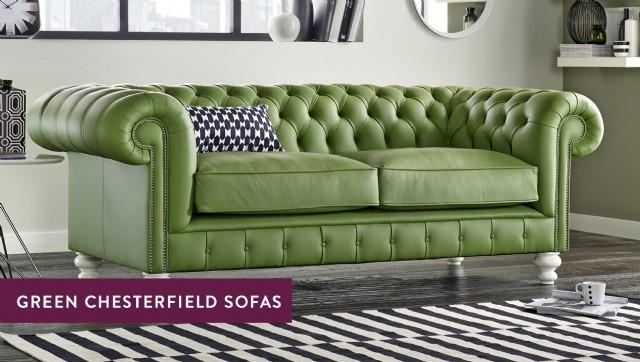 Yeşil Deri Chester Koltuk Deri Chester Tasarımları Yeşil Renkli