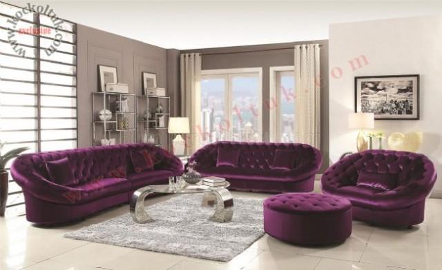 Yuvarlak Chester Koltuk Takımı Modern Luxury Art Deco Tasarım